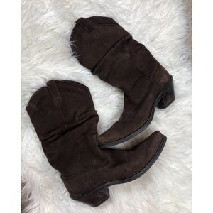 Ariat Suede Brown Slouchy Boots